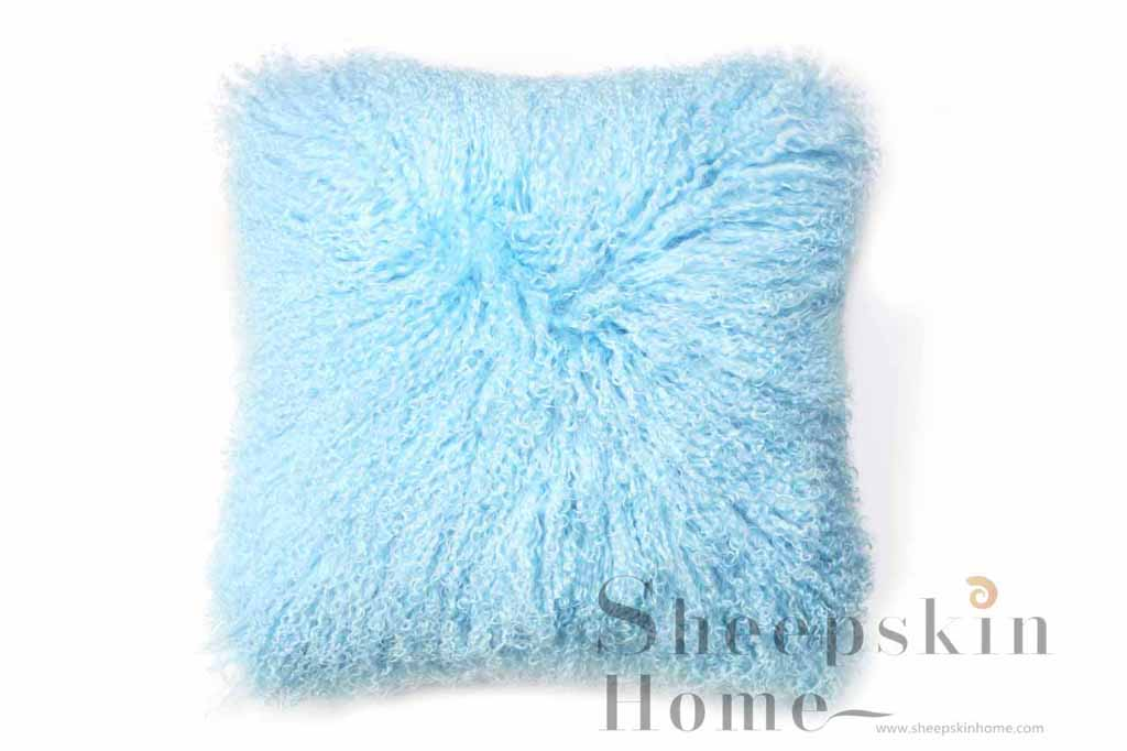 Mongolian lamb cushions