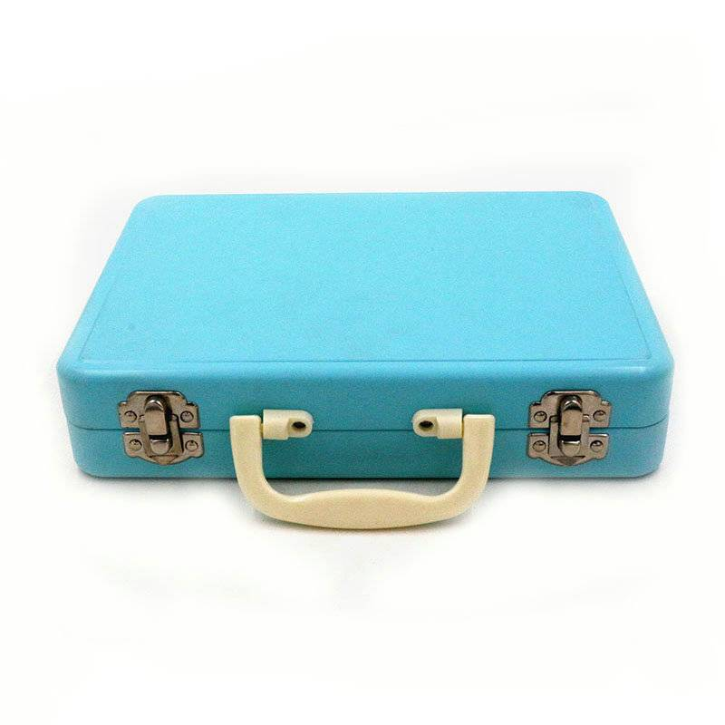Metal tin lunch box with lock handle