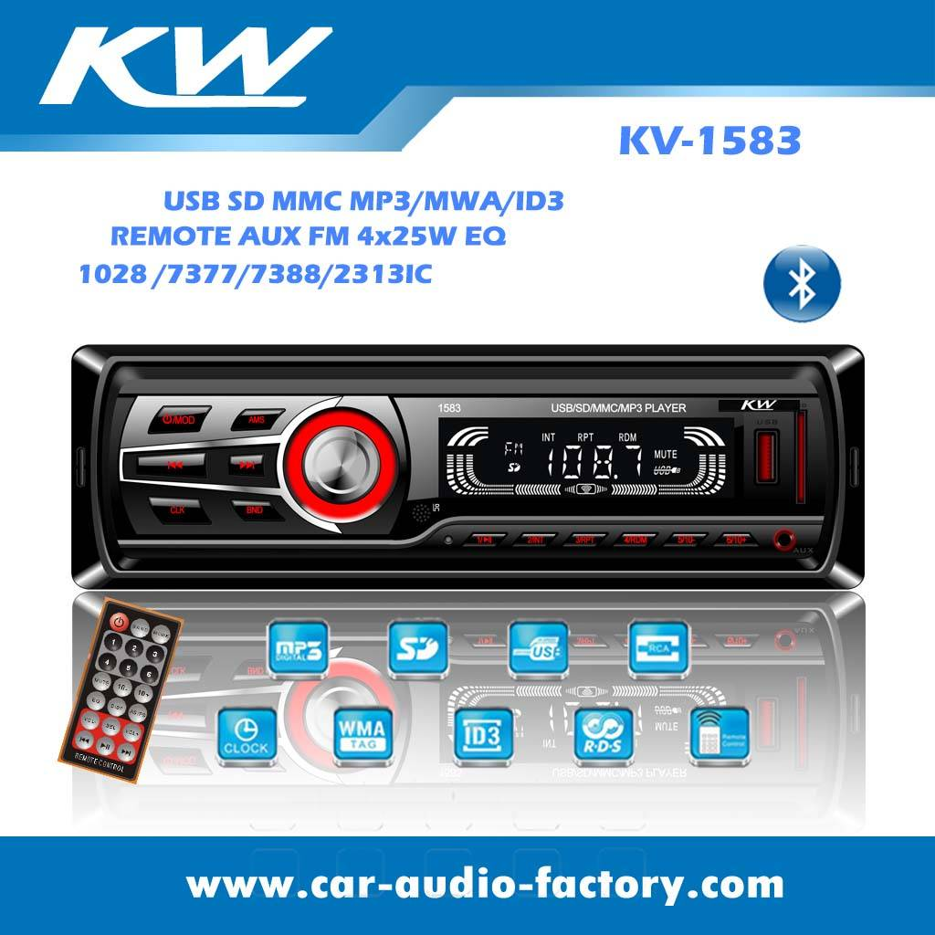 KV1583 Car audio MP3 player with EQ function