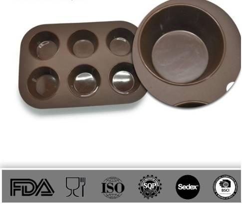 Silicone Muffin Pan,bakeware set , cup cake pan
