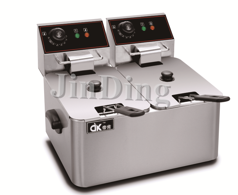 6liter double tanks electric deep fryer DK-6L-2