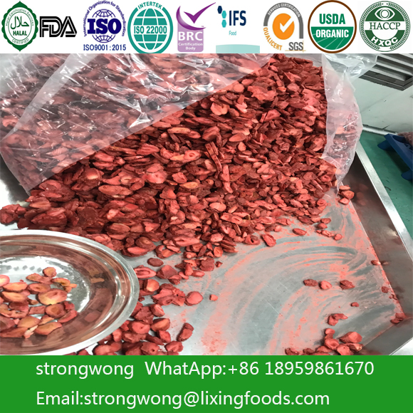 Freeze Dried Strawberry Food Ingredient Healthy Crisp Fruits Snack