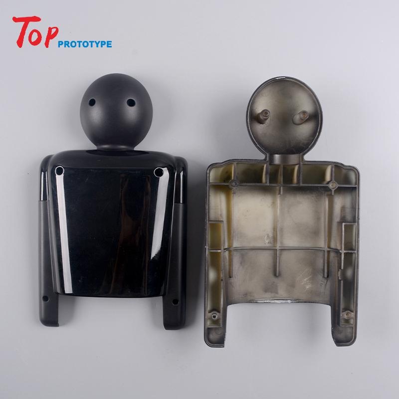 3D printing cnc machining plastic ABS black bake painting doll model prototype Service