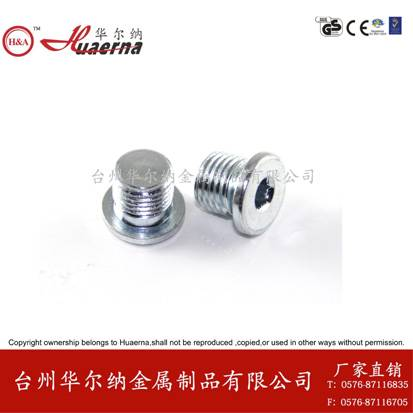 DIN 908 hexagon socket screw plug oil drain plug