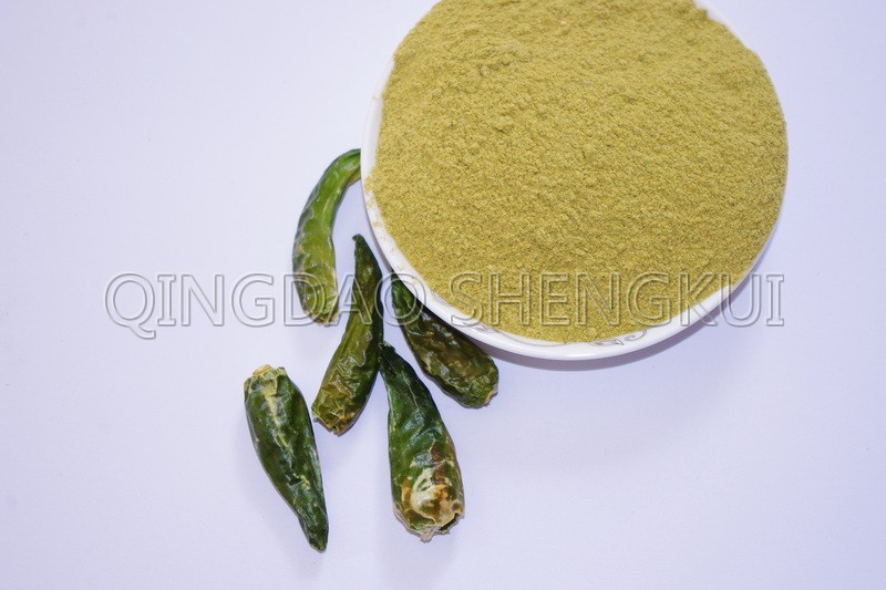 Green hot chili powder