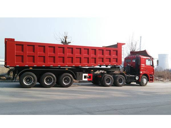 3 Axles 35m3 dump semi-trailer with Side Dump lifting