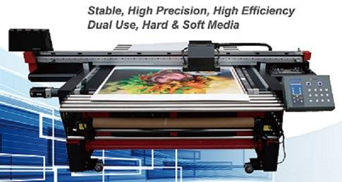 UV Roll to Roll and Flatbed printer(KUV-1600 HYRID)