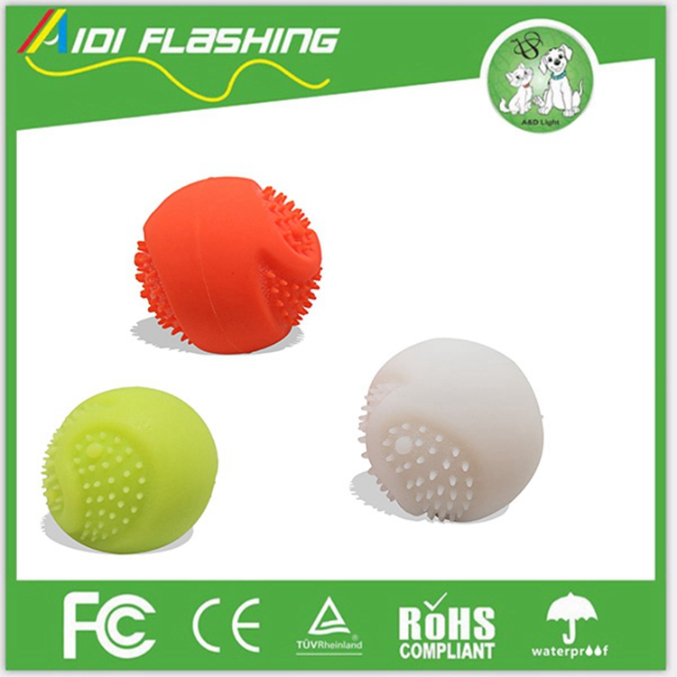 Led Flashing Dog Toy Ball Silicone Dog Playing Ball Pet Ball