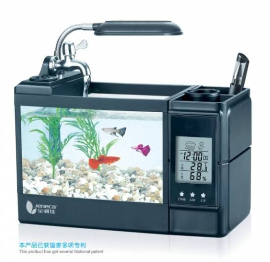 Multifunction Desk Fish Tank with Air Humidifier
