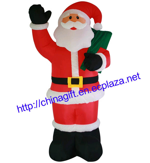 HUGE 240cm INFLATABLE LIGHT UP CHRISTMAS SANTA CLAUS OUTDOOR XMAS DECORATION