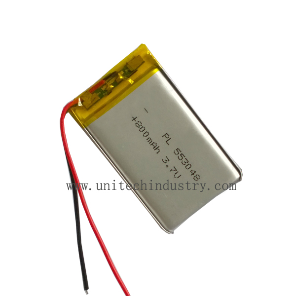 Rechargeable Li- polymer battery 553048 3.7V 800mAh lipo battery