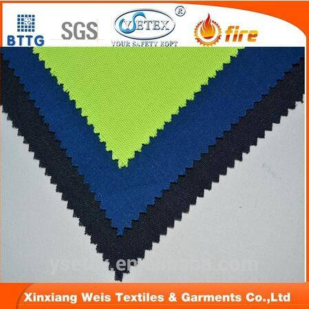 Ysetex EN11612 260gsm 88/12 C/N waterproof&fire resistant fabric for firefighter with low formaldehy