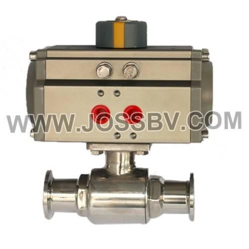 Sanitary Two-Way Ball Valve with Actuator Sanitary Stainless Steel Tri-Clamp Ball valve Sanitary Sta