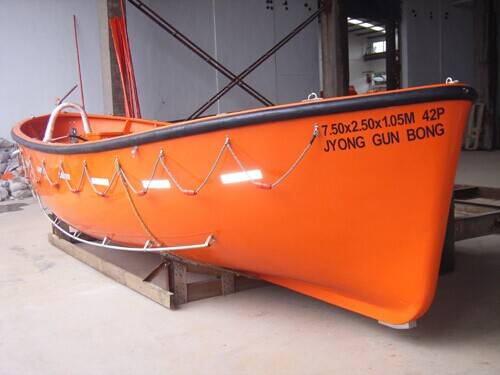 Fibergalss Water Lifesaving Equipment Lifeboat with New Solas Approved