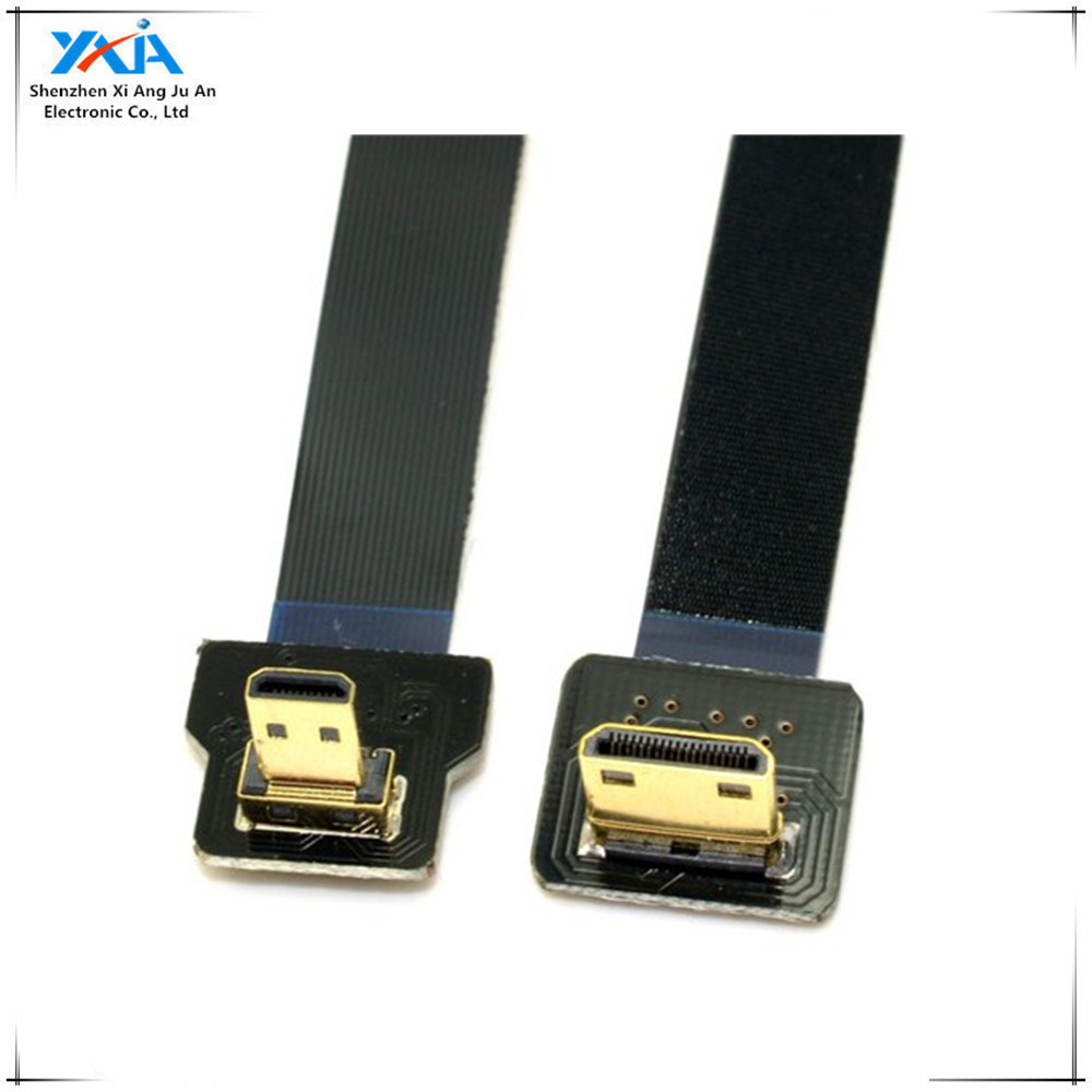 FPV mini 90 degree A Male to HDMI Male HDTV FPC Flat Cable