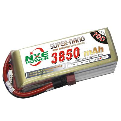 NXE3850mAh-70C-22.2V Softcase RC Helicopter Lipo Battery