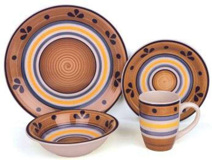stoneware hand painted dinnerware sets