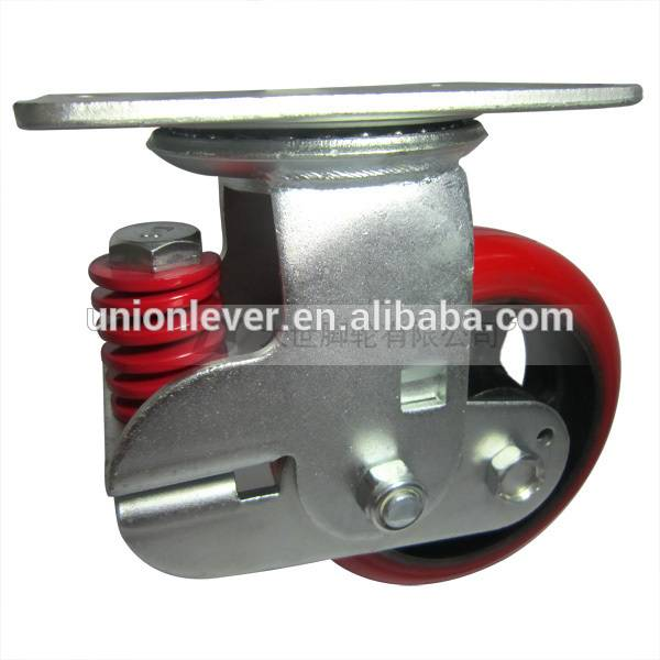 6 inch plate type swivel spring damping caster