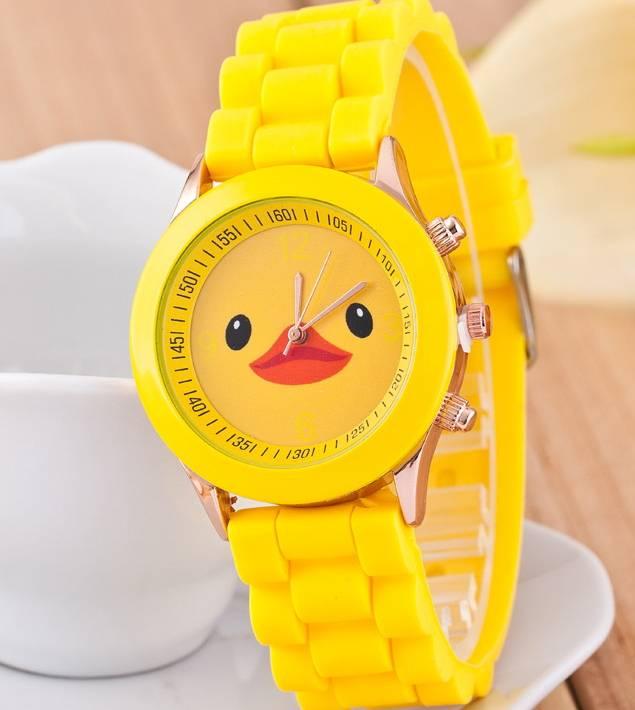 Fashion cute cartoon design silicone watch wrist pocket watches