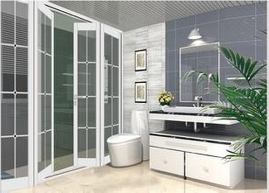 Bathroom folding aluminium doors