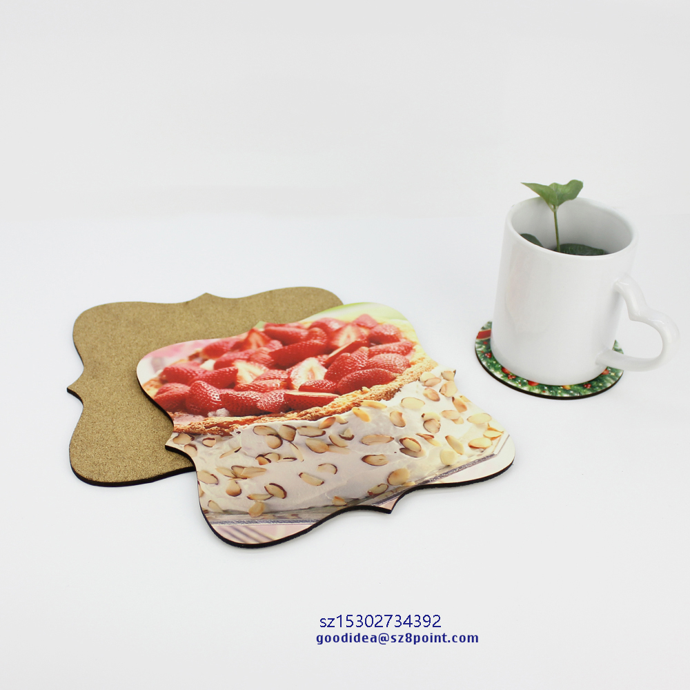 Personalized Sublimation wooden table protector plate placemat