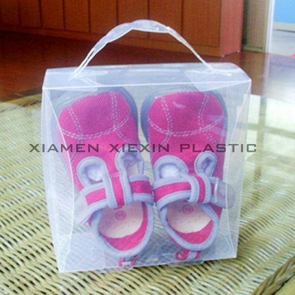 clear baby shoe packaging box