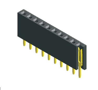 """10PIN 2.54MM .100"""" STRAIGHT SINGLE ROW FEMALE HEADER CONNECTOR,8.5MM HEIGHT"""