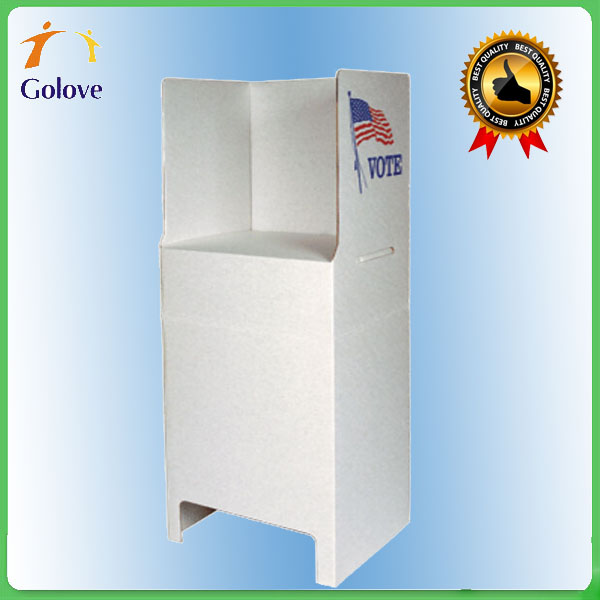 Hot Sale Eco-friendly Recyclable Cardboard Voting Booth