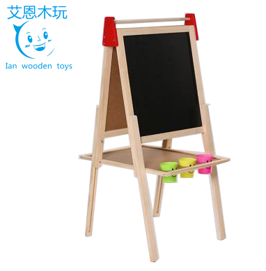 Wooden Double Sided Easel Board for Kids