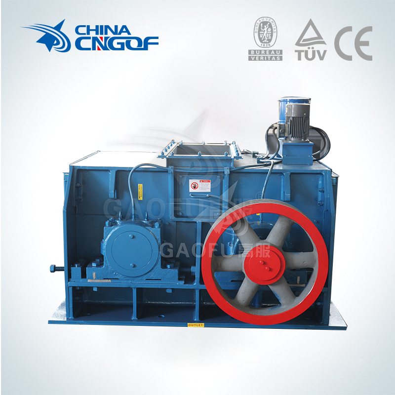 Double roll crusher for circulating fluidized bedboiler