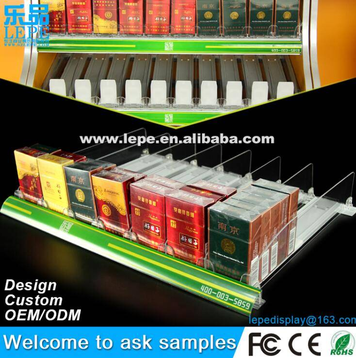 lepe hot selling cigarette automatic pusher use in supermarket and store