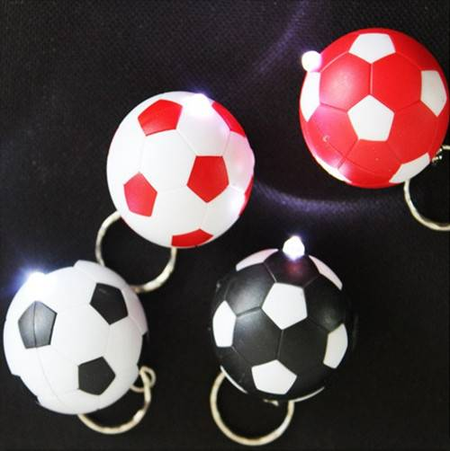 own mold promotion or event used football led keychain