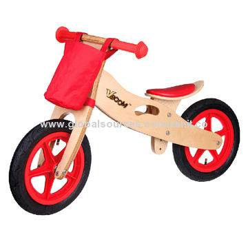 Wooden racer bike - red