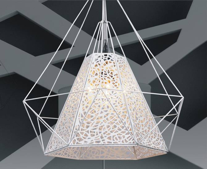 4 light hollow metal pendant lamps