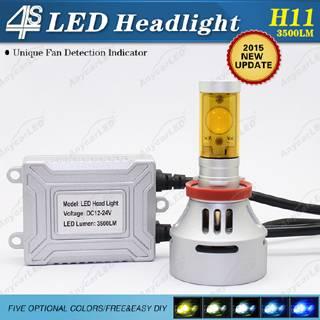4S 3500LM H11 LED Headlight Bulb Conversion Kit DC12-24V with CE,RoHS