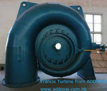 francis type turbine for hydro power generator