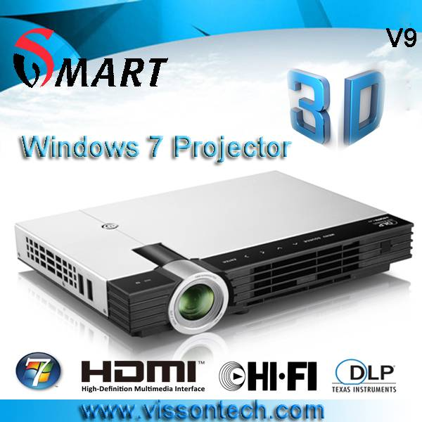 Windows 7 OS all in one 3D projector