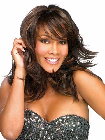 mone lace front medium length wavy synthetic wigs for black women