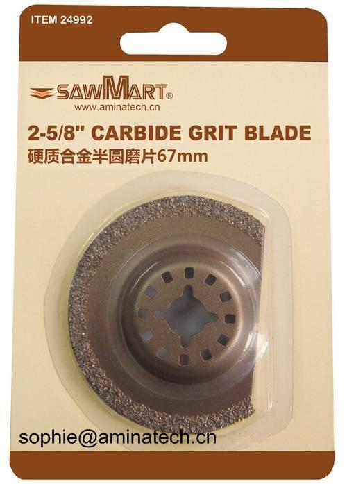 2-5/8 in. Carbide Grit Oscillating  Multi-Tool Half-Moon Blade