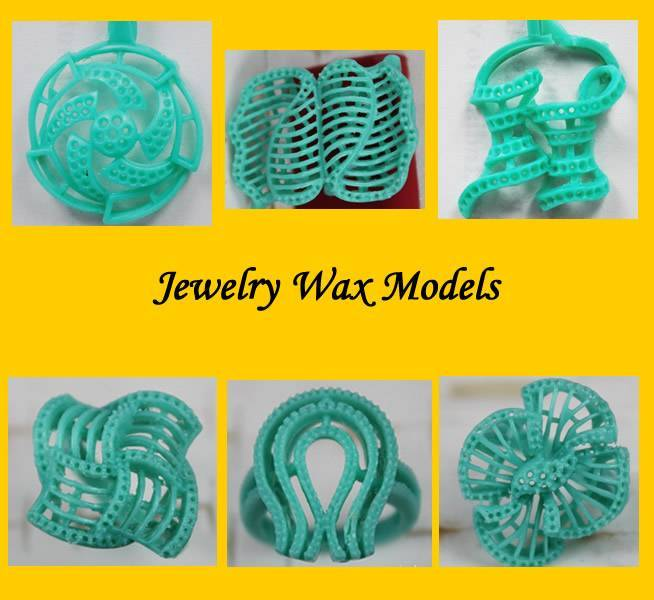 jewelry wax models for  tapper bugget and round designs