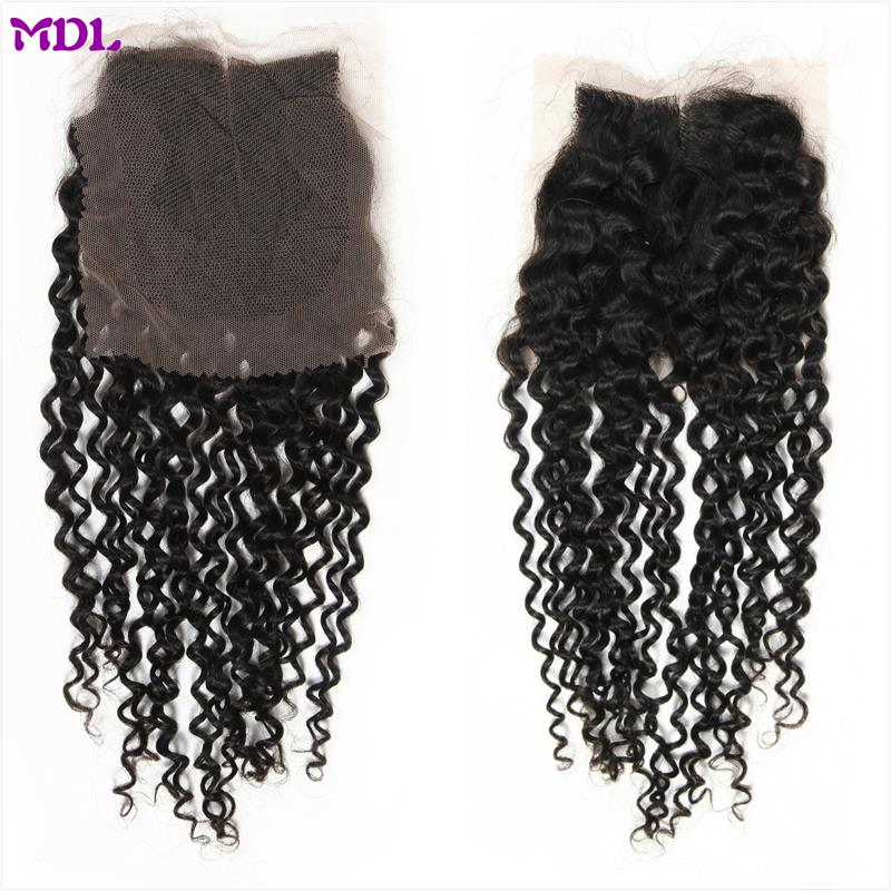 7a grade 44 brazilian virgin hair full cuticle kinky curly lace closure for black woman