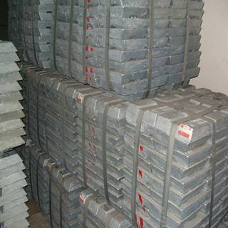 zinc ingots 99.995% purity