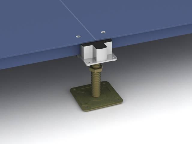 Steel Access Flooring System Bare Finish - KOH601