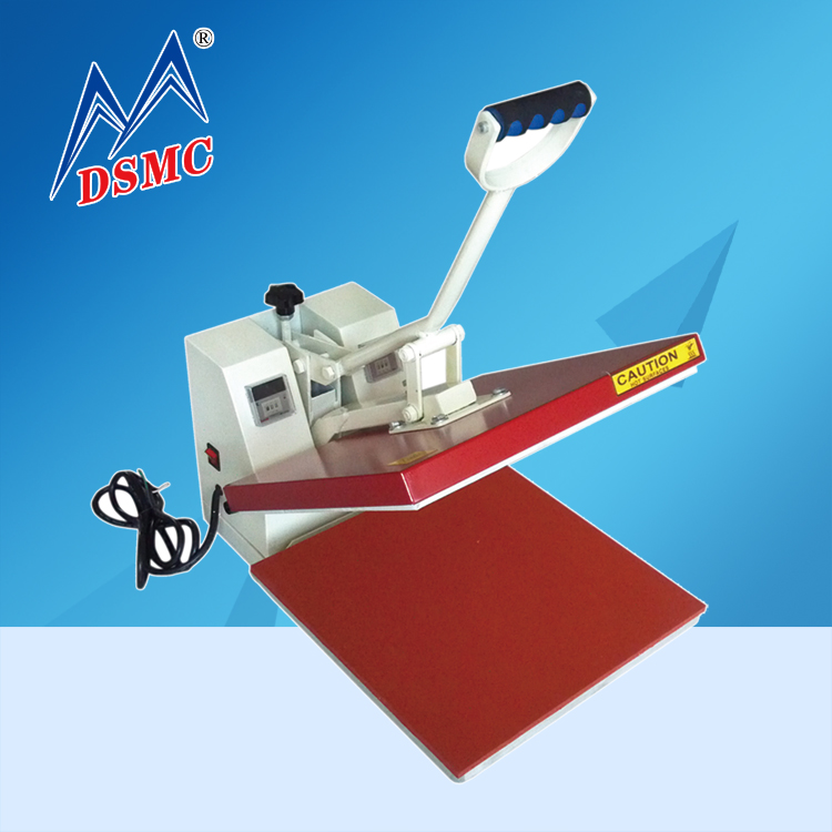 China 38x38CM manual movable t-shirt heat transfer printing machine garment high quality for sale