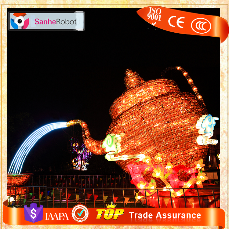 Huge Teapot shape festival used outdoor Chinese silk lantern