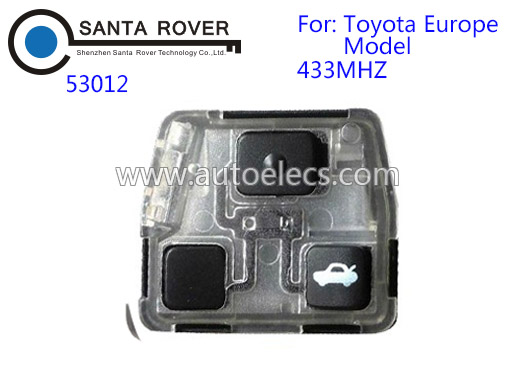 3 Button Remote Keyless Fob For Toyota Car Key Interior Set 53012 433Mhz