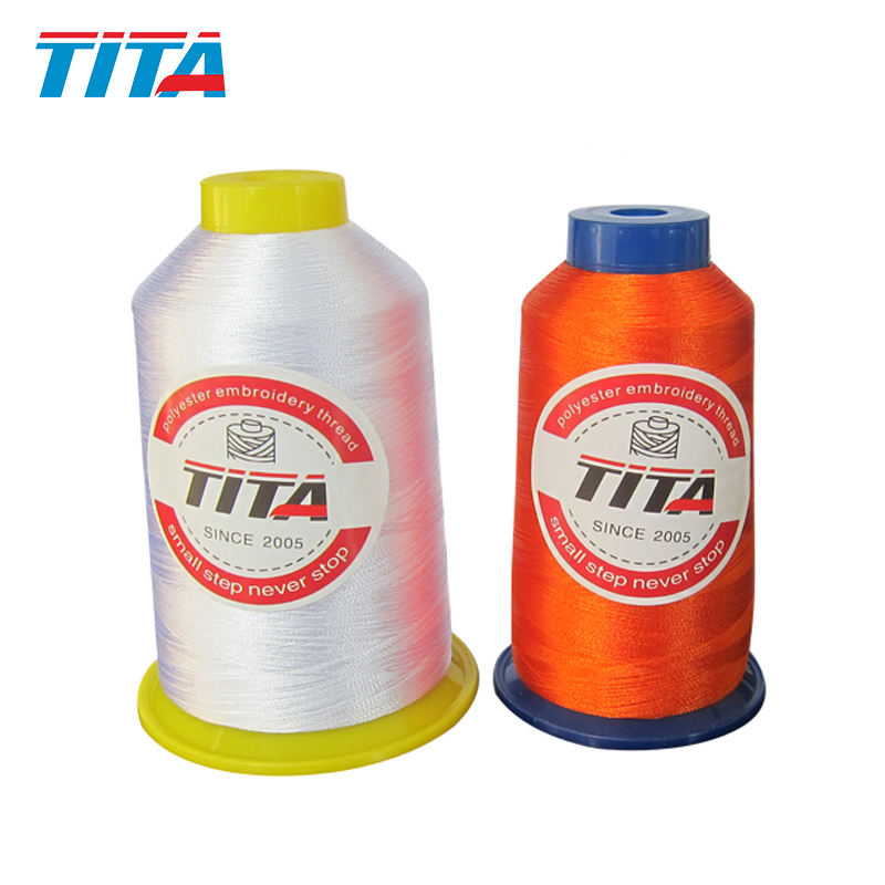 Polyester embroidery thread 150D/2 for high speed multi-head embroidery machine