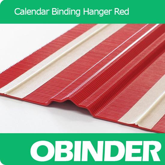 Obinder calendar binding hanger red color customized shape pattern