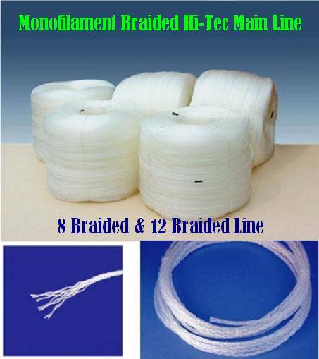 Monofilament Hi-Tec braided main line