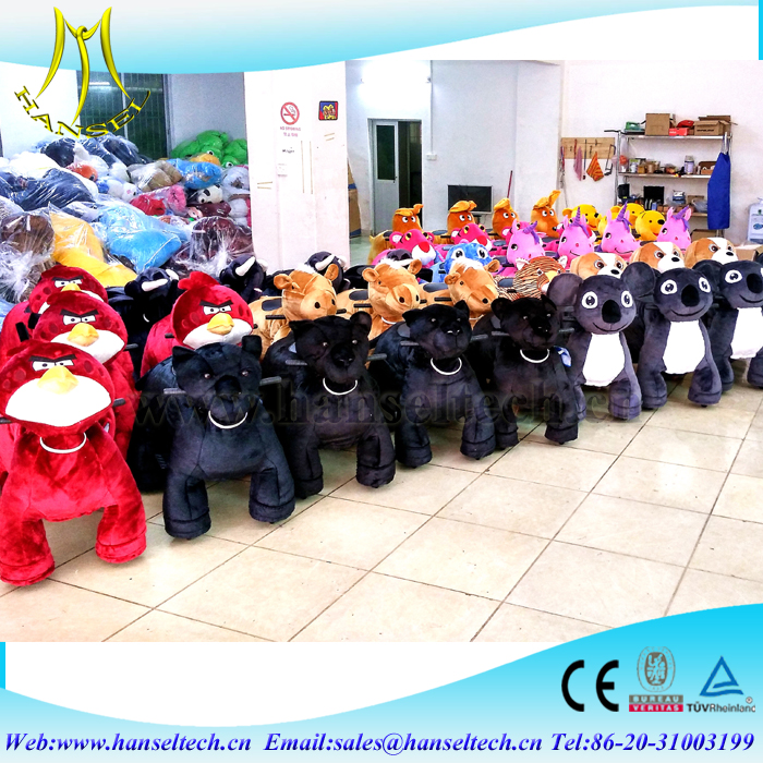 Hansel fast profits factory plush animal ride for shopping mall